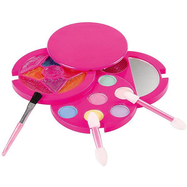Детская декоративная косметика Bondibon Eva Moda Косметичка круглая с зеркальцем, розовая