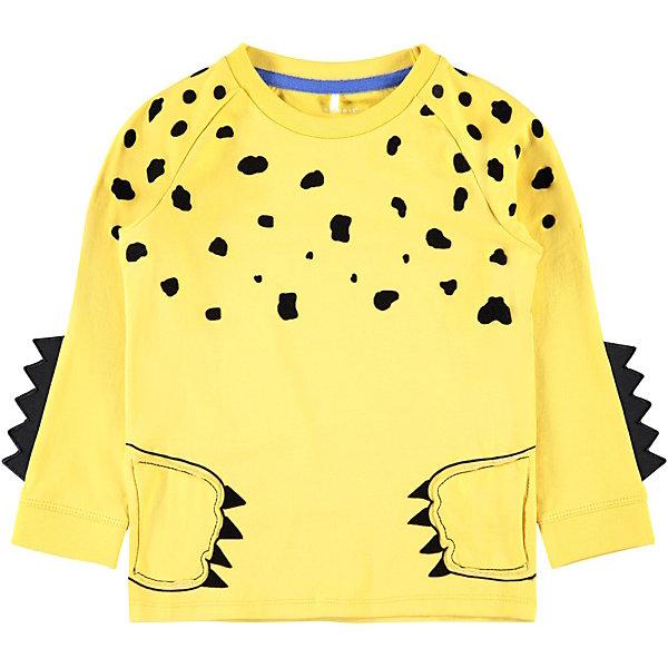 Купить Футболка с длинным рукавом Name it для мальчика, Бангладеш, желтый, 86, 98, 110, 80, 92, 104, Мужской