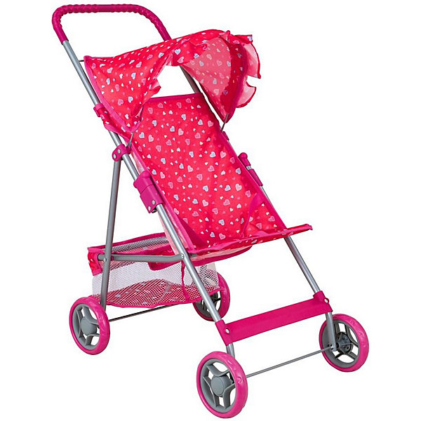 Buggy Boom Коляска для кукол Mixy, розовая
