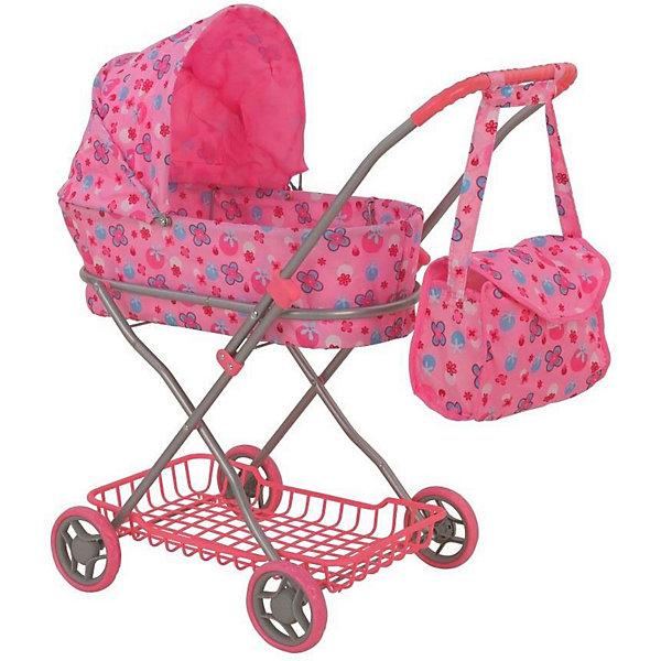 Коляска для кукол Buggy Boom Mixy, розовая