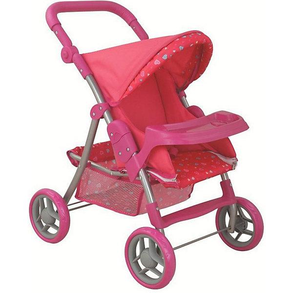 Коляска для кукол Buggy Boom Skyna, розоваяТранспорт и коляски для кукол<br>Характеристики товара:<br><br>• возраст: от 3 лет<br>• материал: металл, пластик, текстиль<br>• защита от случайного складывания <br>• ремень безопасности для куклы<br>• сетчатая корзина<br>• столик для кормления<br>• регулируемая ручка<br>• мягкая накладка на ручке<br>• складной капюшон<br>• можно использовать и зимой и летом<br>• упаковка: картонная коробка<br>• вес в упаковке: 2,68 кг<br>• размер упаковки: 52,5х14х33 см<br><br>Коляска для кукол выполнена в ярких цветах с различными рисунками. Имеется съёмный столик с выемкой под стакан и высокими бортиками. Ручку можно отрегулировать под рост ребёнка, всего два положения горизонтальное и вертикальное. Капюшона также можно сложить, а еще есть ремень безопасности для куклы. Внизу есть корзина для игрушек с сетчатыми боками и тканевым дном, чтобы ничего не потерять. Ткань легко мыть при загрязнениях.