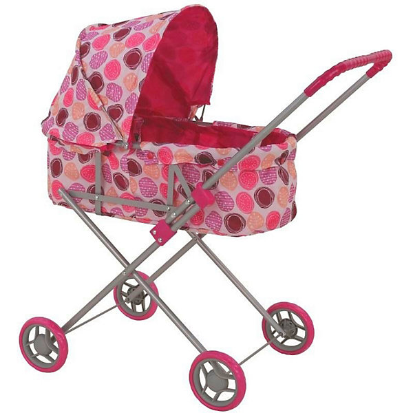 Коляска для кукол Buggy Boom Mixy, розоваяТранспорт и коляски для кукол<br>Характеристики товара:<br><br>• возраст: от 2 лет<br>• материал: металл, пластик, текстиль<br>• диаметр колёс: 11 см<br>• защита от случайного складывания <br>• ремень безопасности для куклы<br>• складной капюшон<br>• резиновая накладка на ручке<br>• можно использовать и зимой и летом<br>• упаковка: картонная коробка<br>• вес в упаковке: 1,66 кг<br>• размер упаковки: 67х36х5 см<br><br>Коляска-люлька для кукол удобная и практичная. Большие колёса обеспечивают хорошую проходимость. Удобная ручка с защитной накладкой. Большой капюшон можно сложить, чтобы куколке было все хорошо видно. Также предусмотрен ремешок безопасности, который легко застёгивается. Каркас выполнен из лёгкого металла, пластмассовые накладки для безопасности ребёнка. Легко собрать и разобрать, в собранном виде не занимает много места. Выполнена из прочных и безопасных материалов. Ткань легко моется.