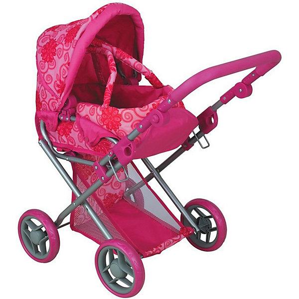 Коляска для кукол Buggy Boom Infinia, розоваяТранспорт и коляски для кукол<br>Характеристики товара:<br><br>• возраст: от 3 лет<br>• материал: металл, пластик, текстиль<br>• подходит для кукол высотой до 40 см<br>• защита от случайного складывания <br>• сетчатая корзина<br>• люлька-переноска<br>• регулируемая ручка на 45-55 см<br>• регулируемая подножка и спинка<br>• мягкая накладка на ручке<br>• складной капюшон<br>• можно использовать и зимой и летом<br>• упаковка: картонная коробка<br>• вес в упаковке: 2,75 кг<br>• размер упаковки: 45х15х38 см<br><br>Коляска-трансформер 2-в-1 для кукол очень удобная и функциональная. Легко трансформируется из положения «лёжа» в прогулочную коляску с положением «сидя». А ещё на коляску можно пристегнуть люльку при помощи удобных кнопок. Люлька дополнена удобными тканевыми ручками, носить её легко и удобно. Подножка также регулируется в двух положениях. Капюшон складывается, чтобы было удобнее доставать куколку. Ручка расположена спереди, дополнена мягкой накладкой и регулируется по высоте. Снизу пристёгивается корзина для игрушек, всё самое важное можно взять с собой.