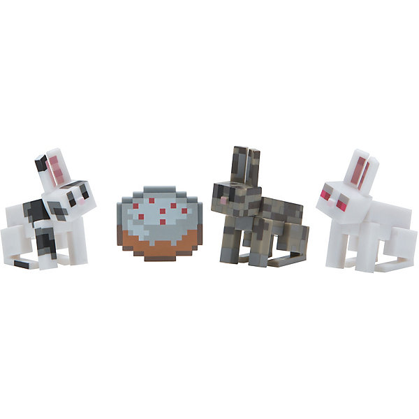 Jazwares Набор фигурок Jazwares Minecraft Chase Bunnies, 3 фигурки ноутбук hp 15 bw614ur 2qj11ea amd a6 9220 2 5 ghz 4096mb 128gb ssd no odd amd radeon 520 2048mb wi fi bluetooth cam 15 6 1920x1080 windows 10 64 bit