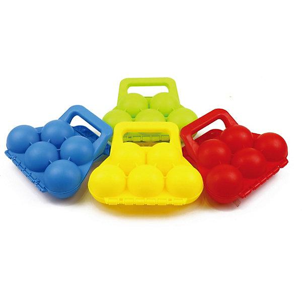 1Toy Формочка для лепки снежков 1Toy, 5 ячеек развивающие игрушки zebratoys логическая формочка