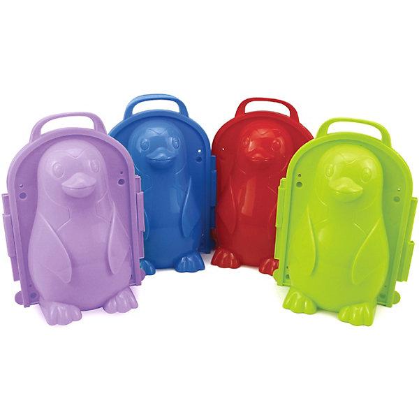1Toy Формочка для лепки снежков 1Toy, пингвин игрушка для лепки снежков smile фиолетовый