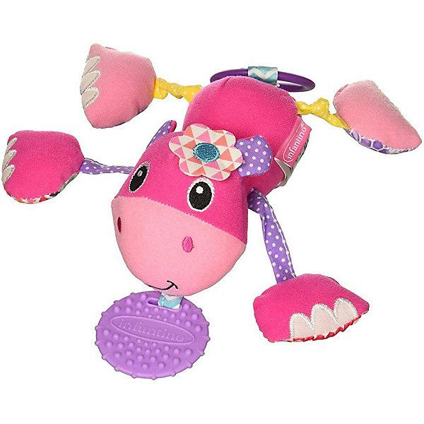 Infantino BKids Игрушка-подвеска Infantino Дрожащий бегемотик прорезыватель infantino розовый слоненок 206 825