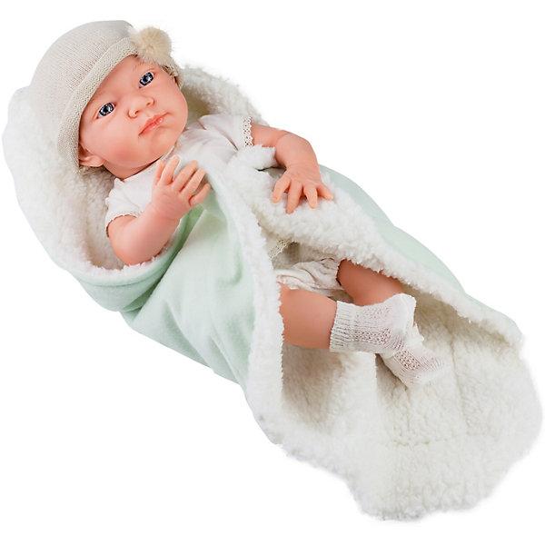Купить Кукла-пупс Paola Reina Бэби , одеяльце, салатовый, 36 см, Испания, Женский