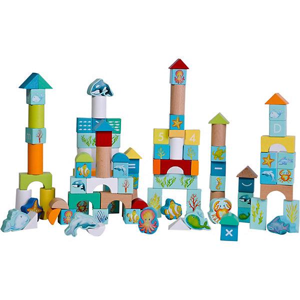 Classic World Деревянный конструктор для малышей Океан, 100 деталей