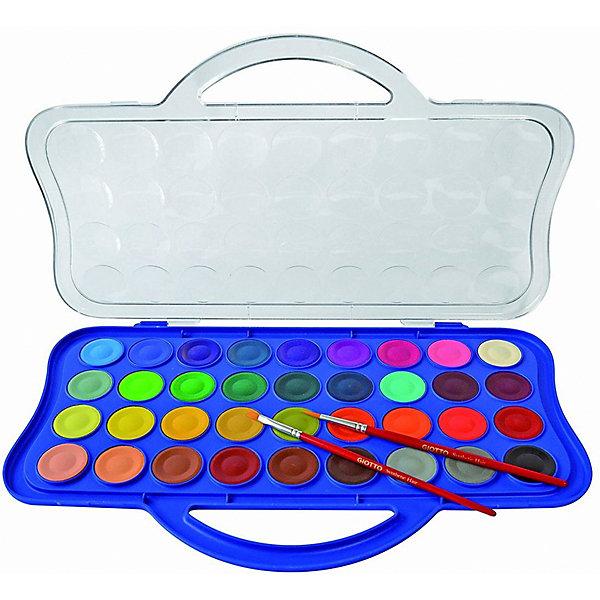 GIOTTO Набор сухой акварели Giotto Colour Blocks Mini, 36 цветов giotto акварель полусухая глиттер 8 цветов кисточка 331200