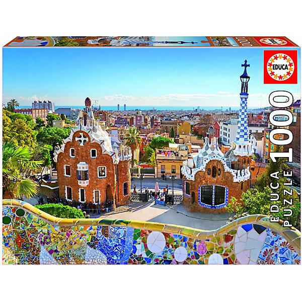 Educa Пазл Educa Вид на Барселону из парка Гуэля, 1000 элементов educa пазл educaгород небоскрёбов 1000 элементов
