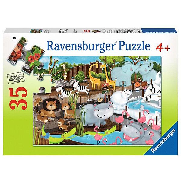 Ravensburger Пазл Ravensburger День в зоопарке, 35 элементов пазл ravensburger озеро эйб 1000 элементов