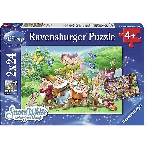 Ravensburger Пазл Ravensburger Disney Семь гномов 2 шт, 24 элемента пазл ravensburger сейшелы 1500 элементов