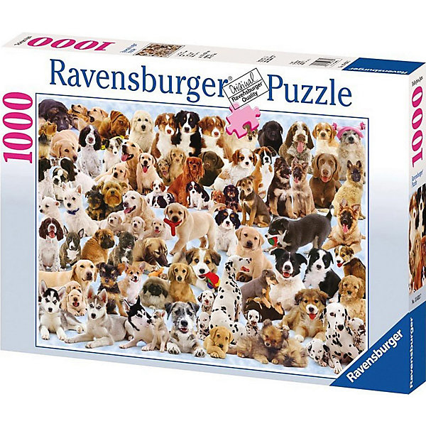 Ravensburger Пазл Ravensburger Изобилие собак, 1000 элементов пазл ravensburger сейшелы 1500 элементов