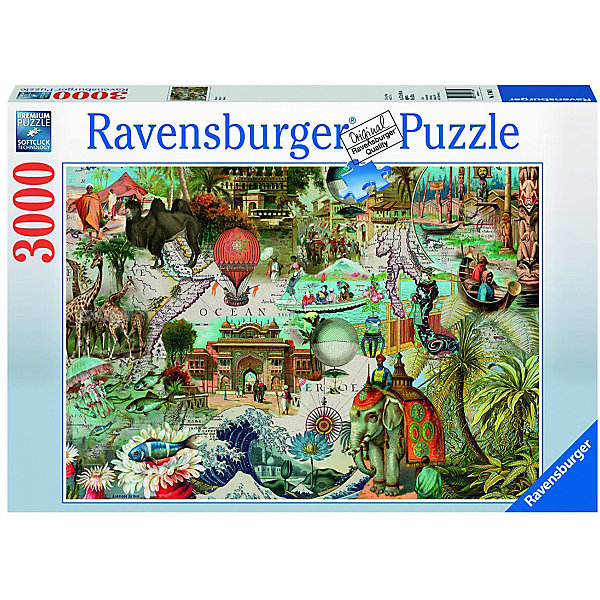 Ravensburger Пазл Ravensburger Океания, 3000 элементов пазл ravensburger сейшелы 1500 элементов