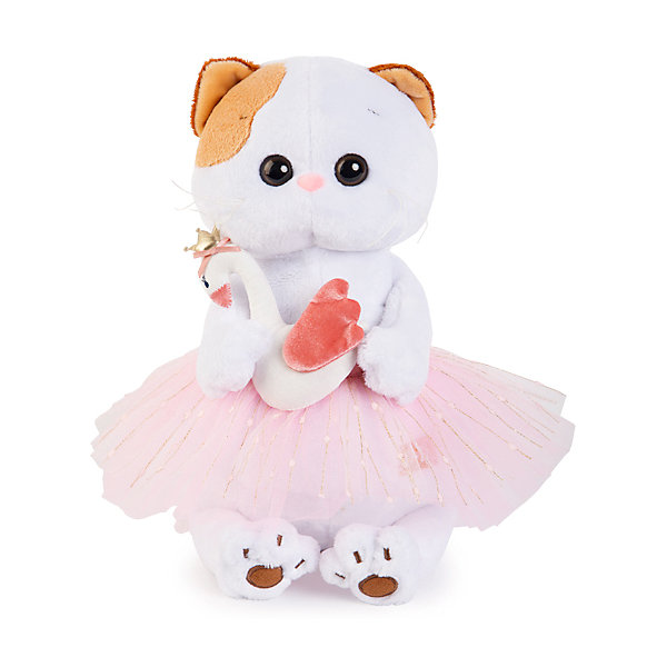 Budi Basa Мягкая игрушка Budi Basa Кошечка Ли-Ли балерина с лебедем, 27 см