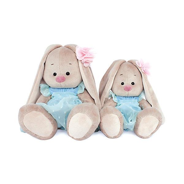 где купить Budi Basa Мягкая игрушка Budi Basa Зайка Ми в голубом платье, 23 см дешево