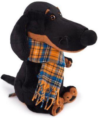 Мягкая игрушка Budi Basa Собака Ваксон в шарфе, 29 см, артикул:10200557 - Мягкие игрушки