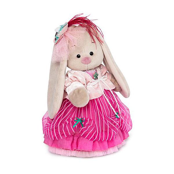Мягкая игрушка Budi Basa Зайка Ми барышня в карамельно-розовом, 25 смМягкие игрушки зайцы и кролики<br>Характеристики товара:<br><br>• возраст: от 3 лет;<br>• материал: текстиль, искусственный мех;<br>• высота игрушки: 25 см;<br>• размер упаковки: 27х16х14 см;<br>• вес упаковки: 450 гр.;<br>• страна производитель: Россия.<br><br>Мягкая игрушка «Зайка Ми» серия барышня— это очаровательный пушистый зайчонок с длинными ушками в привлекательном наряде 18-го столетия. Такую игрушку приятно будет подарить. <br><br>Игрушка выполнена из качественного безопасного материала, настолько приятного и мягкого, что ребенок будет брать с собой зайку в кроватку и спать в обнимку.