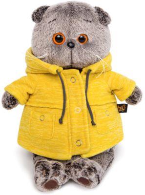 Мягкая игрушка Budi Basa Кот Басик в желтой куртке  B&Co , 22 см, артикул:10200569 - Мягкие игрушки