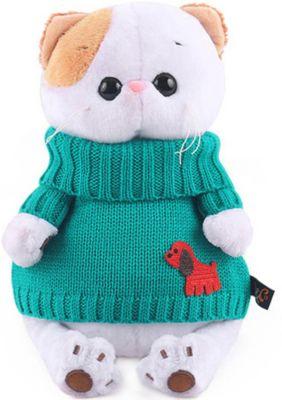 Мягкая игрушка Budi Basa Кошечка Ли-Ли в зеленом свитере, 24 см, артикул:10200571 - Мягкие игрушки