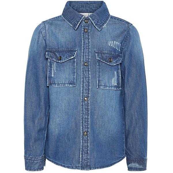 Купить Джинсовая рубашка Name It, Китай, темно-синий, 86, 80, 98, 92, Мужской