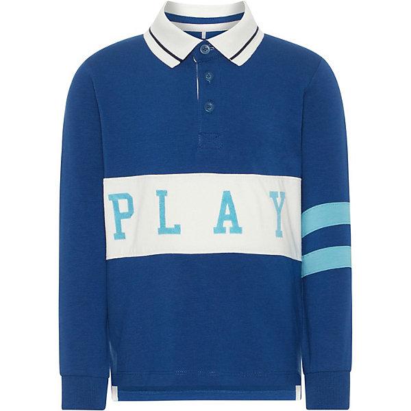 Купить Футболка с длинным рукавом Name it для мальчика, Бангладеш, синий, 86, 92, 104, 110, 98, 80, Мужской