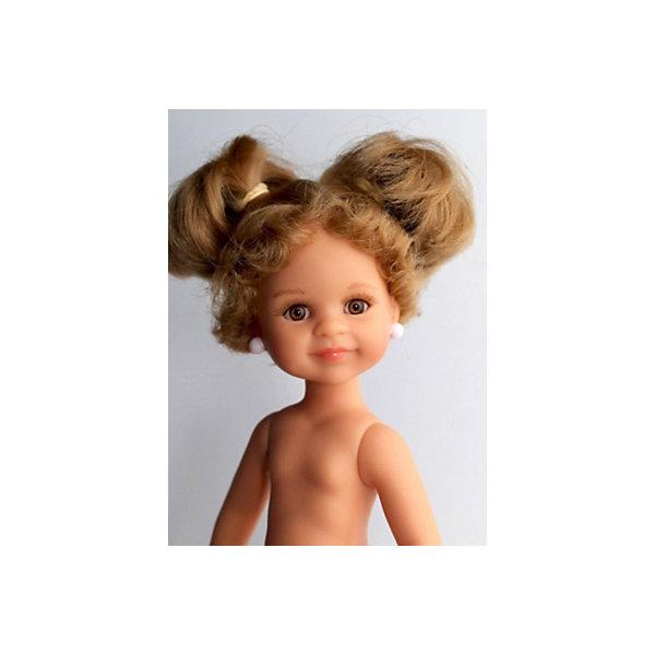 Кукла Paola Reina Клео, 32 смPaola Reina<br>Характеристики:<br><br>• кукла без одежды;<br>• высота куклы 32 см;<br>• ванильный аромат;<br>• уникальный дизайн лица и тела;<br>• ручная работа;<br>• волосы легко расчесываются;<br>• глаза не закрываются;<br>• руки, ноги и голова поворачиваются;<br>• стандарт безопасности EN17 ЕЭС;<br>• материал: винил, пластик, нейлон;<br>• размер упаковки: 32х14х32 см;<br>• вес: 330 г.<br><br>Кукла Клео с светлыми волосами, собранными в хвостики, отдельно прошитая челка, глаза медовые с ресницами, на лице веснушки. Кукла продается без одежды. Сделано из качественных материалов.