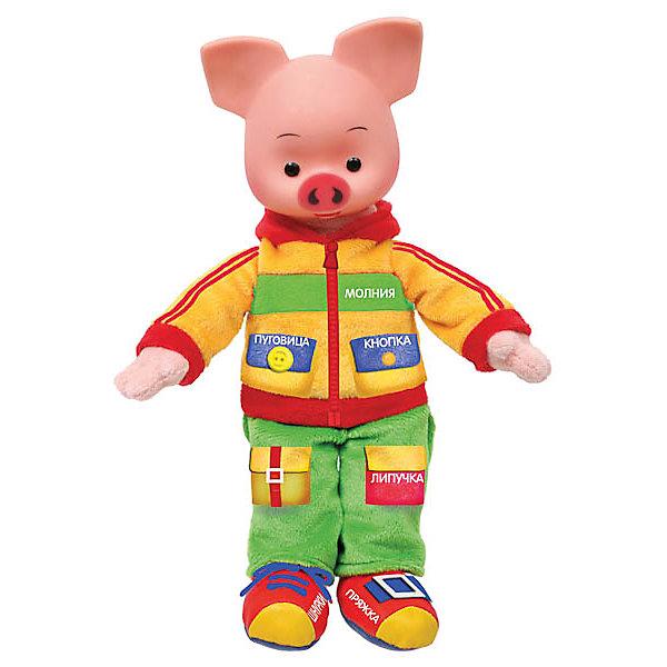 """Мягкая игрушка Мульти-Пульти """"Хрюша учит одеваться"""", 25 см, Grün/rot"""