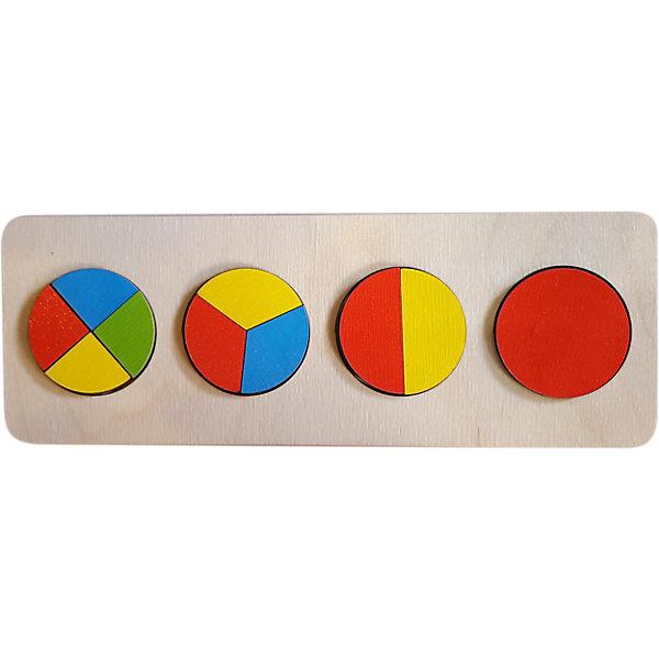 Нескучные игры Игрушка -вкладыш Нескучные Игры Геометрия Круги рамка вкладыш нескучные игры больше меньше геометрия