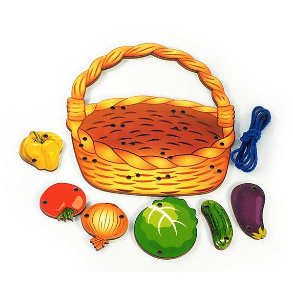 Нескучные игры Шнуровка Игры Корзина с овощами