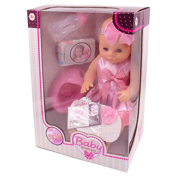 ABtoys Интерактивная кукла ABtoys Baby Boutique пьёт и писает, 40 см с аксессуарами кукла baby doll с аксессуарами b553177