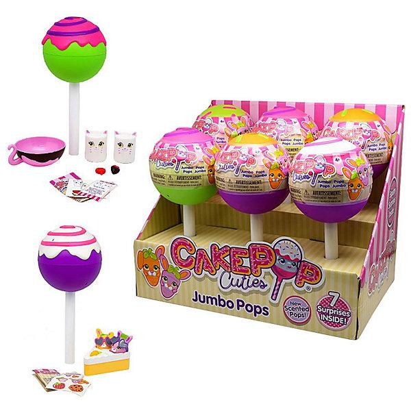 Игрушка-антистерсс Cake Pop Cuties Jumbo Pop Single, в закрытой упаковкеСквиши<br>Характеристики:<br><br>• материал: полиуретан, пластик<br>• в наборе: фигурки в упаковке в виде чупа-чупса, аксессуары, лист коллекционера<br>• размер упаковки: 9х22х10 см<br>• страна бренда: США<br><br>Набор включает забавные фигурки в виде вкусных продуктов. Красочные игрушки сделаны из мягкого материала, который хорошо восстанавливает форму.<br><br>Внимание! Товар в ассортименте. Выбрать определенный вариант заранее невозможно.