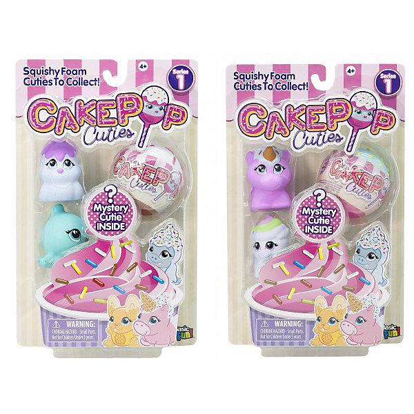 Basic Fun Набор игрушек-антистресс Cake Pop Cuties 2 серия, 2 вида набор игрушек фигурок sonic тим чаотикс