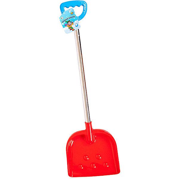 ABtoys Лопата ABtoys Зимние забавы с металлическим черенком лопата для снега крепыш с планкой и черенком длина 146 см