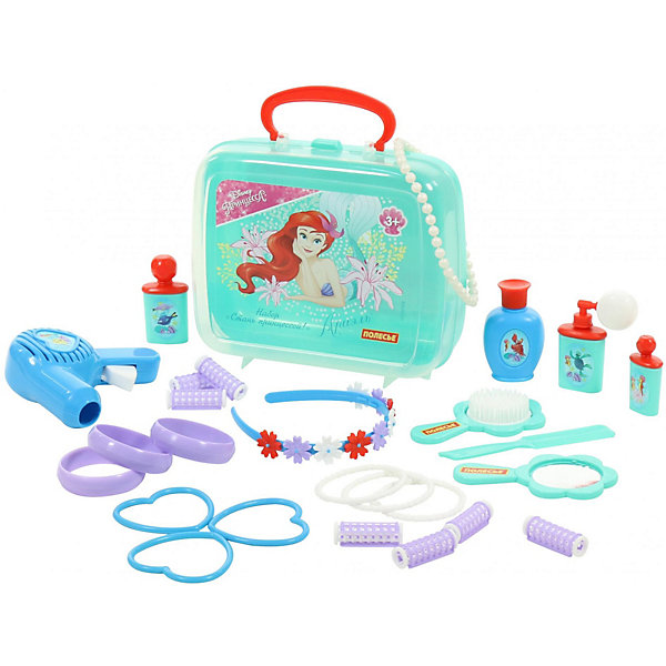"""Фото Polesie Набор в чемоданчике Disney """"Ариэль"""" - """"Cтань принцессой!"""" , 26 предметов"""