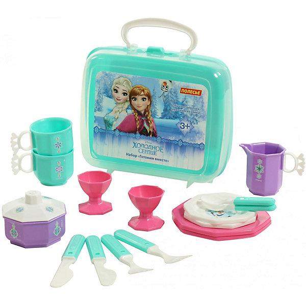 Polesie Набор Disney Холодное сердце - Готовим вместе, 16 предметов набор посуды babybjorn 2 тарелки 2 ложки 2 вилки в упаковке розовый лиловый