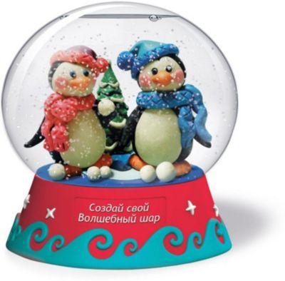 Набор для творчества Magic Moments  Создай Волшебный шар  Пингвины, артикул:10214422 - Рукоделие и поделки