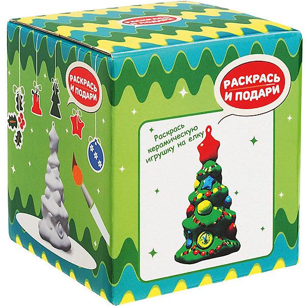 Купить Набор для росписи по керамике Раскрась и подари Новогодняя игрушка Ёлочка, -, Россия, разноцветный, Унисекс