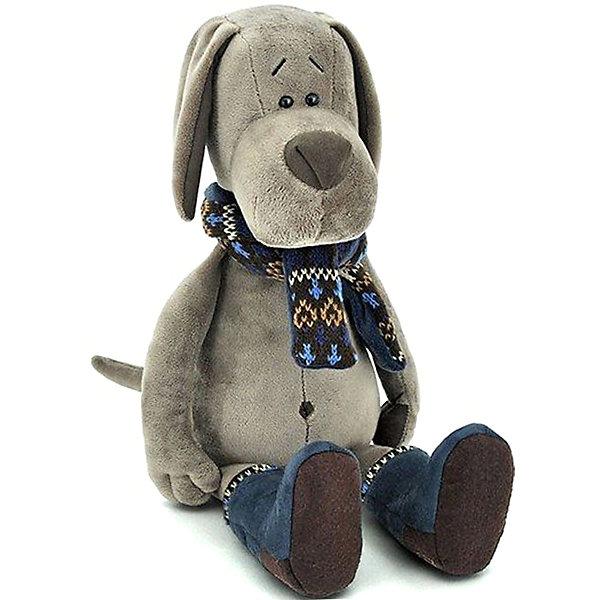 Купить Мягкая игрушка Orange Life Пёс Барбоська в уггах, 30 см, Китай, серый, Унисекс