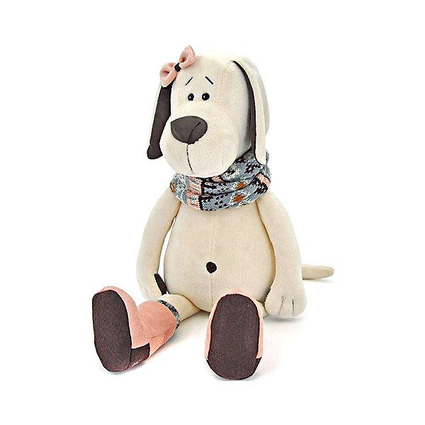 Купить Мягкая игрушка Orange Life Собачка Лапуська в уггах, 30 см, Китай, белый, Унисекс