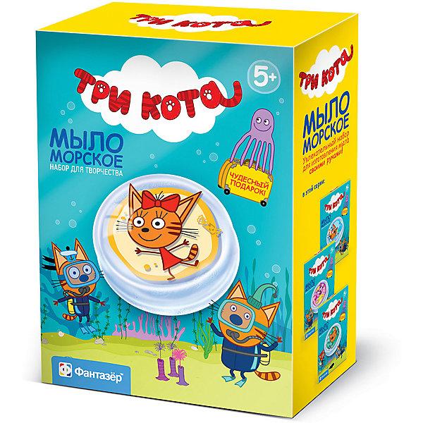 Купить Набор для создания морского мыла Фантазёр Три кота Карамелька, -, Россия, разноцветный, Унисекс