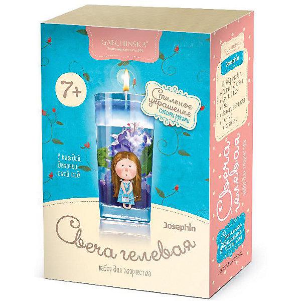 Набор для создания гелевых свечей Josephin с цветами У каждой девочки свой садНаборы для создания мыла и свечей<br>Характеристики:<br><br>• в наборе: стаканчик, пакетики с красителями, баночка с гелем, фитиль, украшения<br>• вес упаковки: 600 г<br>• размер упаковки: 15,5х7,5х22 см<br>• страна бренда: Россия<br><br>В наборе есть все, чтобы сделать собственную гелевую свечу в стеклянном стакане с утолщенным дном. Гель заливается внутрь, параллельно туда же закладываются украшения. В готовой свече находится целая композиция, которая украсит собой интерьер.