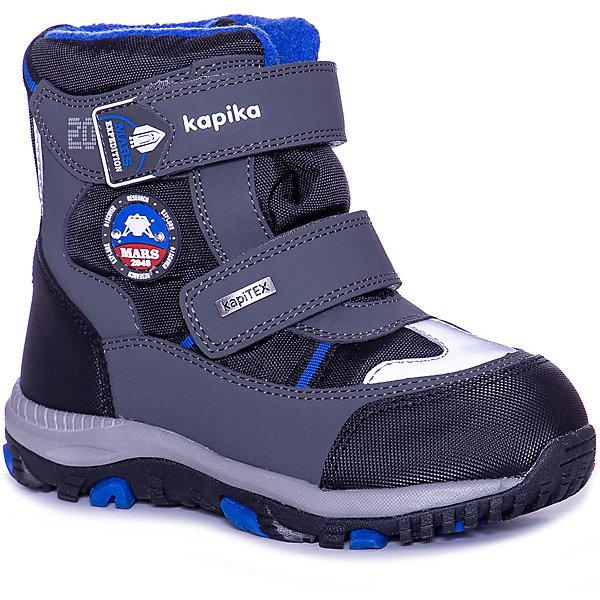 Kapika Ботинки Kapika для мальчика ботинки для мальчика kapika цвет темно серый 54269 размер 39