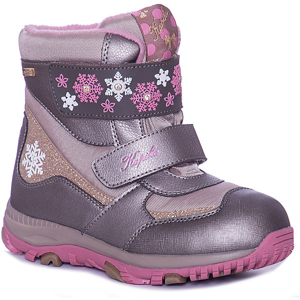 Kapika Ботинки Kapika для девочки ботинки для девочки kapika цвет розовый 42283 1 размер 30