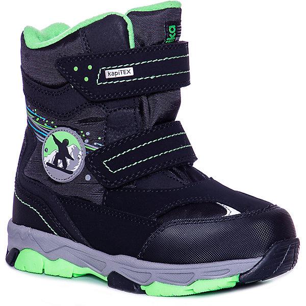 Kapika Ботинки Kapika для мальчика ботинки для мальчика зебра цвет черный 12566 1 размер 25