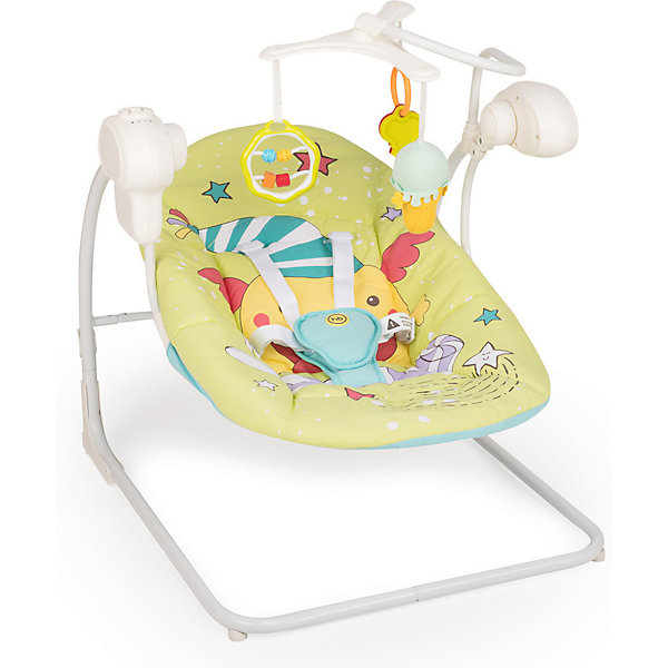 Кресло-качели Happy Baby Jolly V2, зелёный