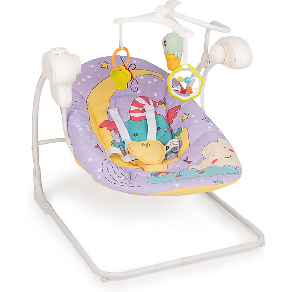 Кресло-качели Happy Baby Jolly V2, фиолетовый