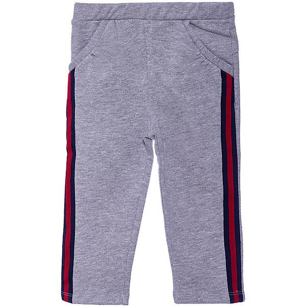 Спортивные брюки Original MarinesСпортивные брюки<br>Характеристики:<br><br>• состав ткани: 82% хлопок, 13% полиэстер, 5% металлизированная нить<br>• сезон: демисезон<br>• застёжка: брюки на резинке<br>• особенности: спортивные<br>• карманы<br>• страна бренда: Италия<br><br>Брюки выполнены в спортвном стиле в сером цвете с контрастными лампасами, сине-красные полосы. Имеют прямой крой, который не сковывает движений. Эластичная резинка на талии не давит на живот. Дополнены двумя боковыми прорезными карманами.