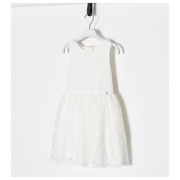 Купить Платье Original Marines для девочки, Шри-Ланка, белый, 116, 128, 92, 104, 140, 152, Женский